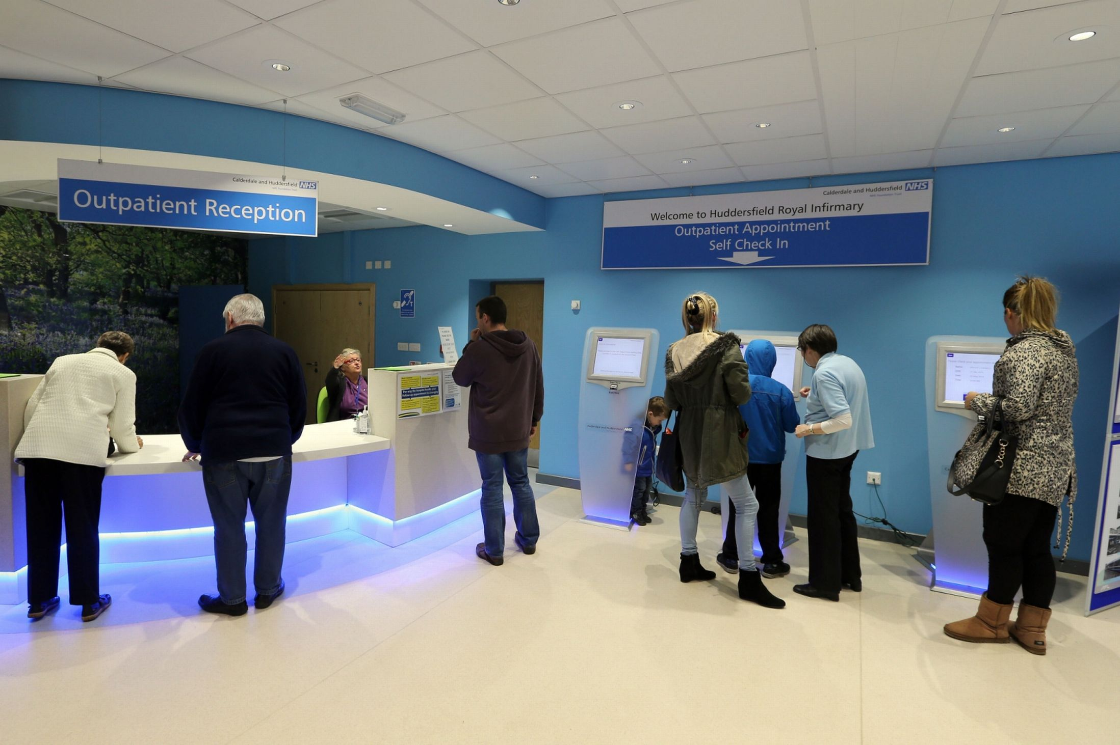 Patient check-in kiosk design in UK