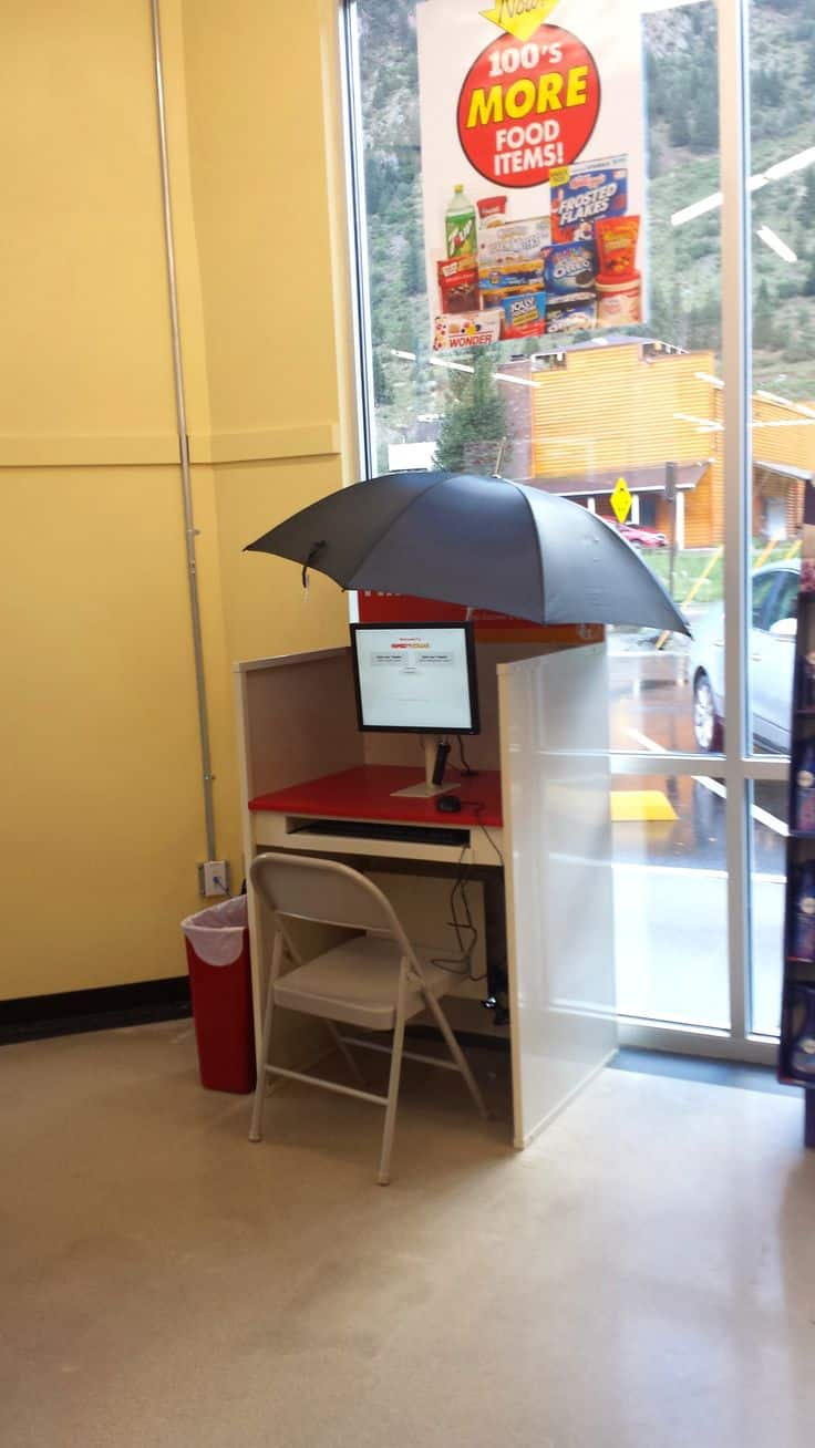 "Here is a ""Shady Kiosk"" from Dollar General store. Does this appear to be DIY you think? From the collection ""Not the Best Idea"" . Click for full image"