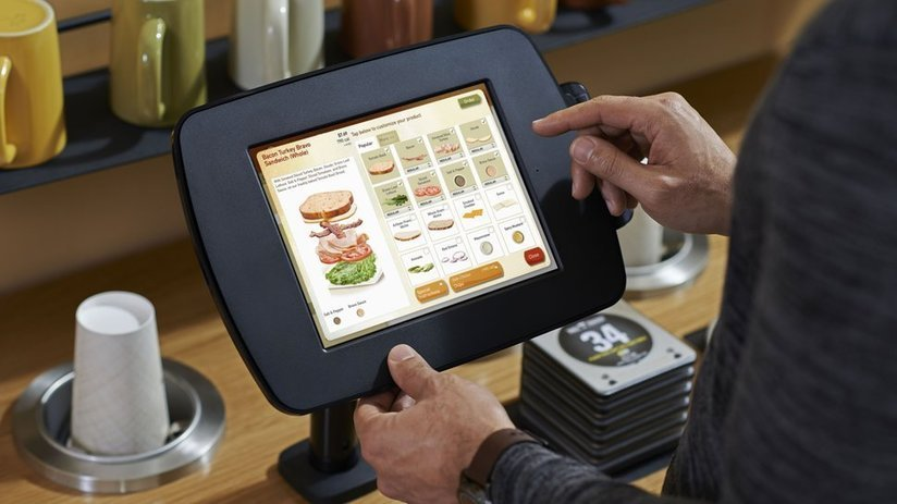 Self order tablet kiosks panera surges for Self magazine customer service