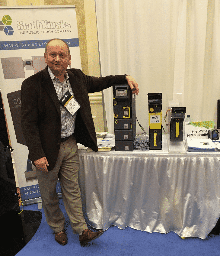 Rick Kobal at recent kiosk trade show
