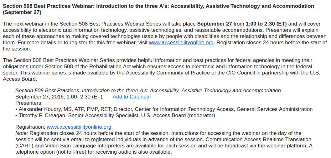 https://dev.accessibilityonline.org/cioc-508/schedule