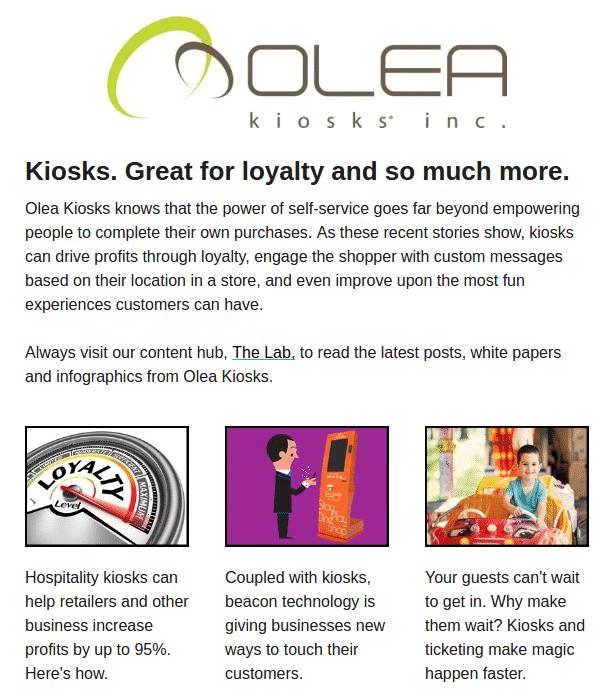Olea Loyalty Kiosk