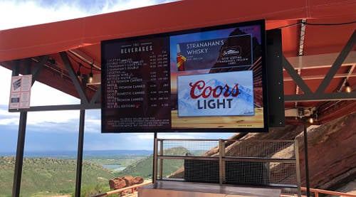 red rocks digital signage