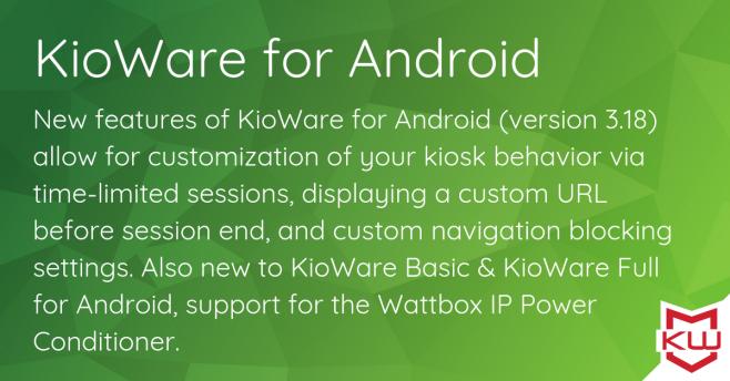 kioware android kiosk software