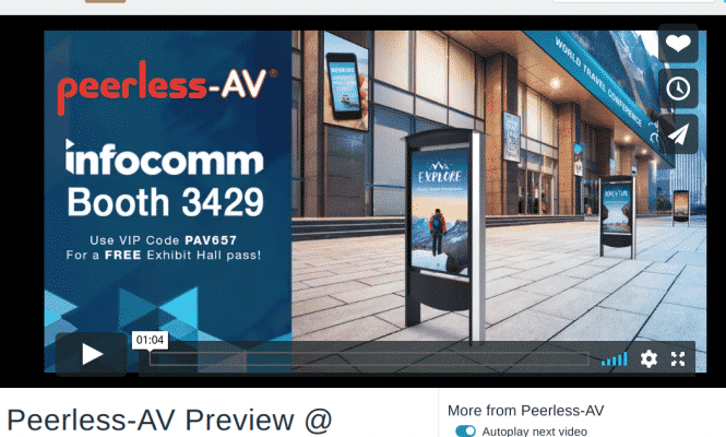Peerless-AV infocomm 2019