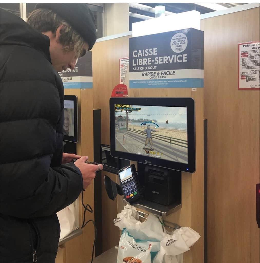 User hacking kiosk