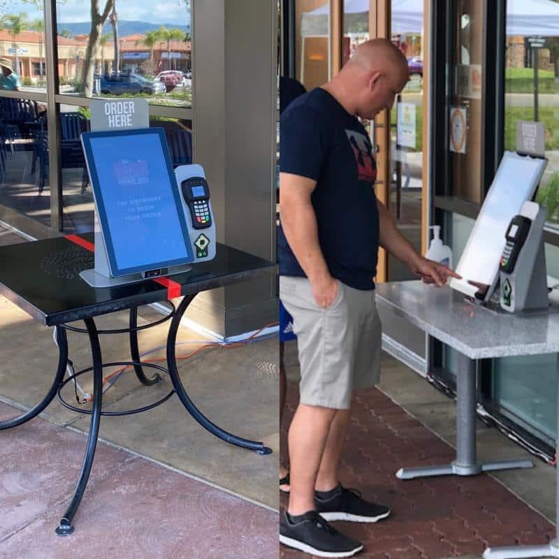 Habit burger kiosk outside