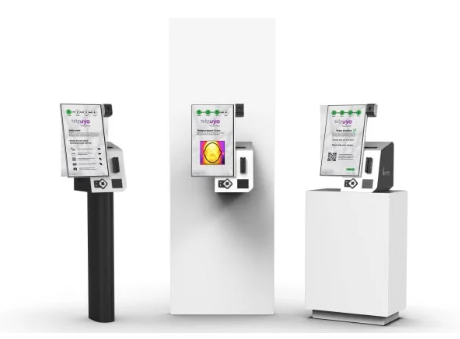 Contactless kiosk – temperature screening kiosks – Pyramid