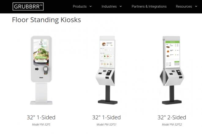grubbrr kiosk images
